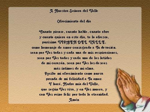 Oraciones A La Virgen Del Valle Morenita Del Valle